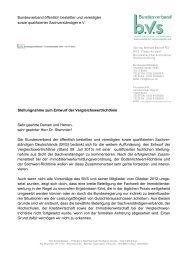 Stellungnahme zum Entwurf der Vergleichswertrichtlinie - BVS