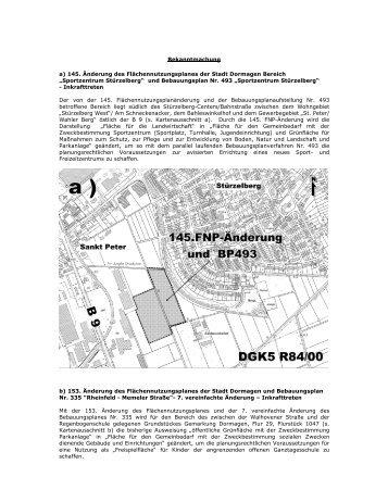 Bekanntmachungstext - Stadt Dormagen