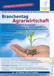 Branchentag Agrarwirtschaft - Finanz Colloquium Heidelberg