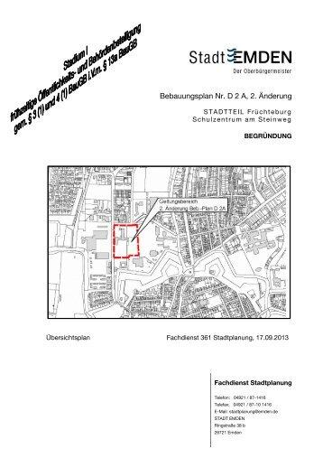 """D 2 A 2. Ã""""nd Begr. Stadium I 17.09.13 - Stadt Emden"""