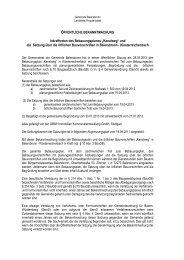 und die Satzung über die örtlichen Bauvorschrifte - Gemeinde ...