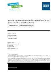 Einzelhandels- und Zentrenkonzept Frankfurt (Oder)