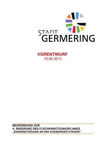 4. ÄnderungFNP Erläuterung 18.06.2013 - Stadt Germering