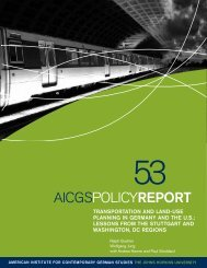 Transportation and Land-Use Planning in Germany and the ... - aicgs