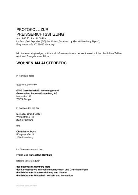 wohnen am alsterberg - D&K Consult