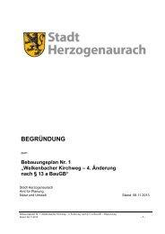 BEGRÃœNDUNG - Stadt Herzogenaurach