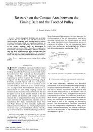 Research on the Contact Area between the Timing Belt and the ...