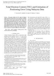 Total Electron Content (TEC) - International Association of Engineers
