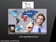 Software and electronics are the cloud ECO system avner.algom ...