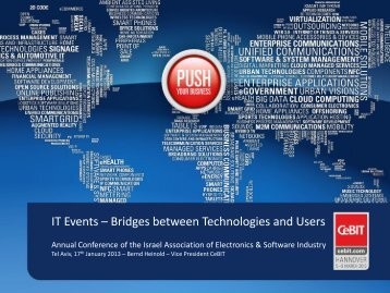 IT Events – Bridges between Technologies and Users