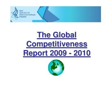 The Global Competitiveness 2010 - Report 2009