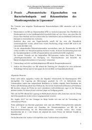 """2 Praxis """"Photometrische Eigenschaften von Bacteriorhodopsin und ..."""