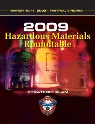 2009 Hazardous Materials Roundtable Report - IAFC