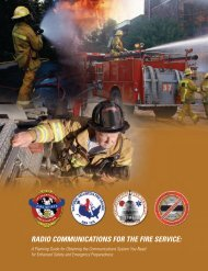 RADIO COMMUNICATIONS FOR THE FIRE SERVICE: - IAFC
