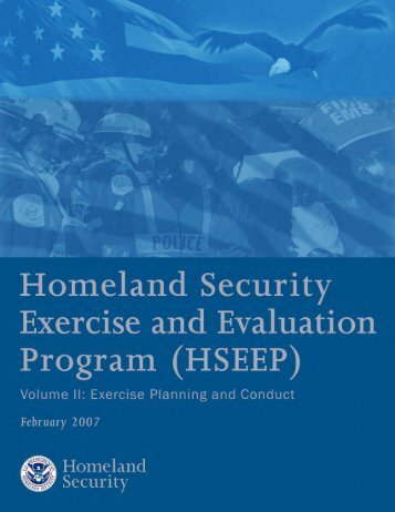 (HSEEP); Volume II - International Association of Fire Chiefs