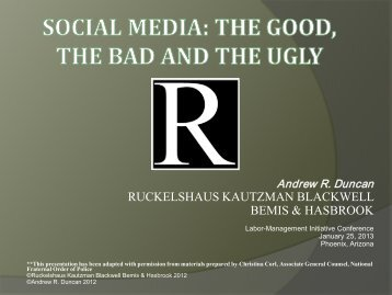 Social Media - The Good, The Bad, and The Ugly - International ...