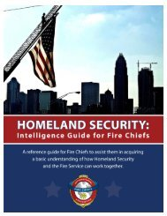 Homeland Security Intelligence Guide for Fire Chiefs - International ...
