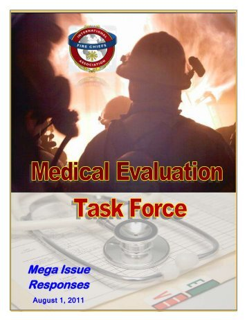 2011 Medical Evaluation Task Force Report - International ...