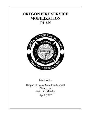 oregon fire service mobilization plan - International Association of ...