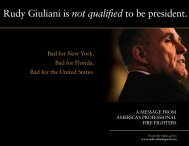 Rudy Giuliani is not qualified to be president. - IAFF