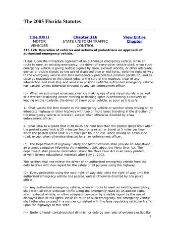 The 2005 Florida Statutes - IAFC