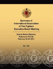 IAFF Board Meeting #180, 2/11