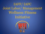 Wellness Fitness Initiative - International Association of Fire Fighters