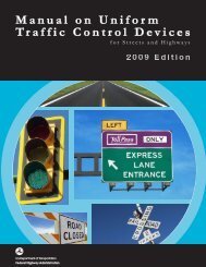2009 Edition - Manual on Uniform Traffic Control Devices
