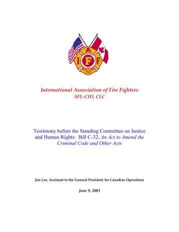 Bill C-32, An - IAFF