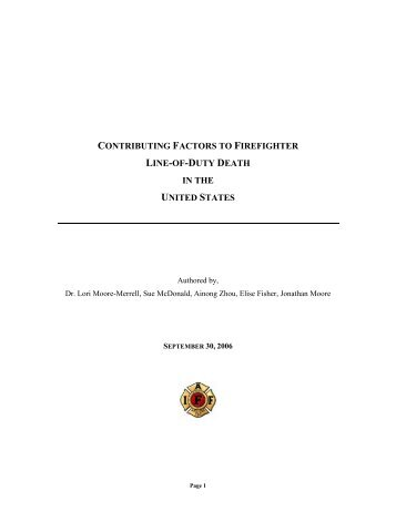 contributing factors to firefighter line-of-duty death in the ... - IAFF