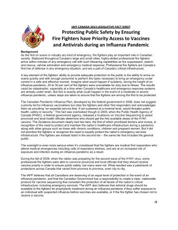 Pandemic Protection for Fire Fighters - IAFF