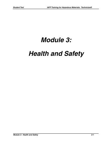Module 3: Health and Safety - IAFF
