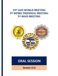 Sala Grande - 19th IAFS World Meeting - 9th WPMO Triennial Meeting