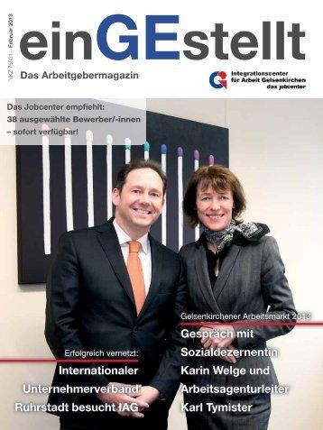 einGEstellt, Ausgabe Nr.1 Feburar 2013 - IAG Gelsenkirchen