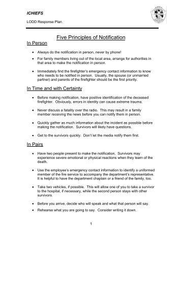 Five Principles of Notification - IAFF