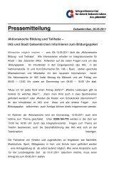 Aktionswoche Bildung und Teilhabe - IAG Gelsenkirchen