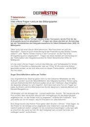 Viele offene Fragen rund um das Bildungspaket - IAG Gelsenkirchen