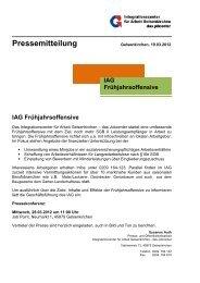 Pressemitteilung - IAG Gelsenkirchen
