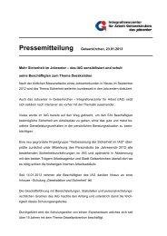 Sicherheit im Jobcenter - IAG Gelsenkirchen