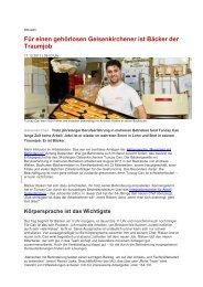 Gehörloser Bäcker findet seinen Traumjob - IAG Gelsenkirchen