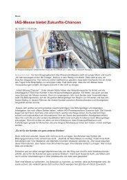 IAG-Messe bietet Zukunfts-Chancen - IAG Gelsenkirchen