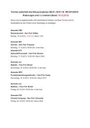 Klausurenplan WS 2013/2014 - Fakultät II - Hochschule Hannover