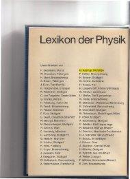 Beitraege zum Lexikon der Physik - Desy