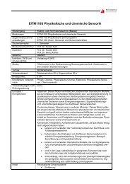 EITM110S Physikalische und chemische Sensorik