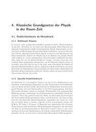 4. Klassische Grundgesetze der Physik in der Raum-Zeit