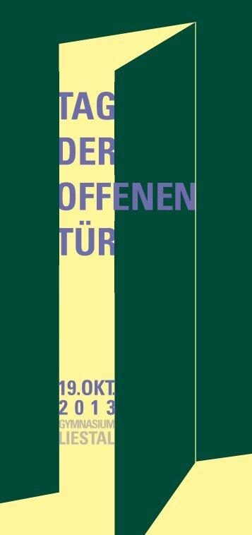 TAG DER OFFENEN TÃœR - Gymnasium Liestal