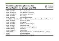Mastermodule_Vorstellung_SS13 - Fachbereich Biologie der TU