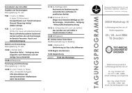 TAGUNGSPROGRAMM - IAG - Universität Stuttgart