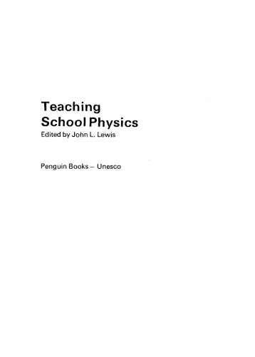 Teaching school physics; UNESCO source books on ... - unesdoc