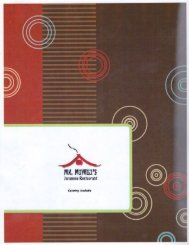 Mr Miyagi's Japanese Restaurant Kodak Dinner Menu (865) 465-3030